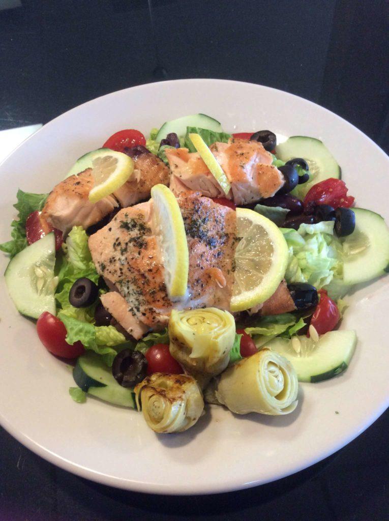 Salmon Mediterranean Salad Image